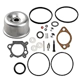 493762 Carburetor Overhaul Kit and Float bowl for Briggs and Stratton 498260 492495 796611 493640 490937 398183 498261 for Walbro 20-141-1 20-141 carb fit for 3.5 4HP Max Series Engine