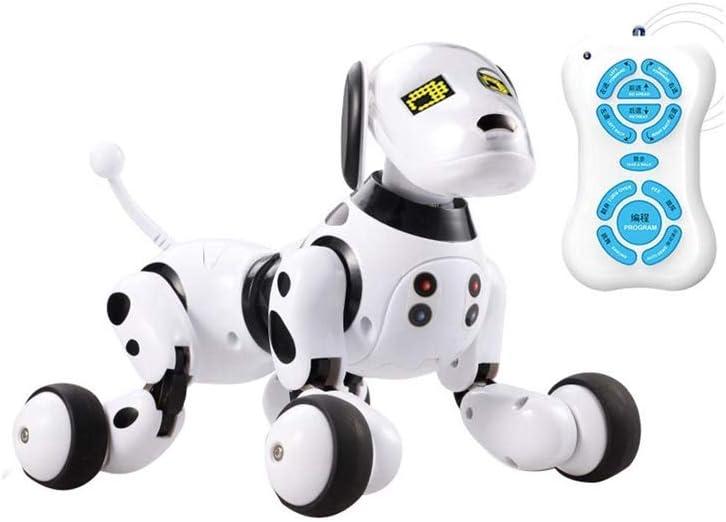 SYXX Control remoto inalámbrico inteligente perro robot, Hablar robot de juguete for mascotas perros electrónico, juguete de los niños, bebé rompecabezas máquina de la historia, puede cantar y bailar
