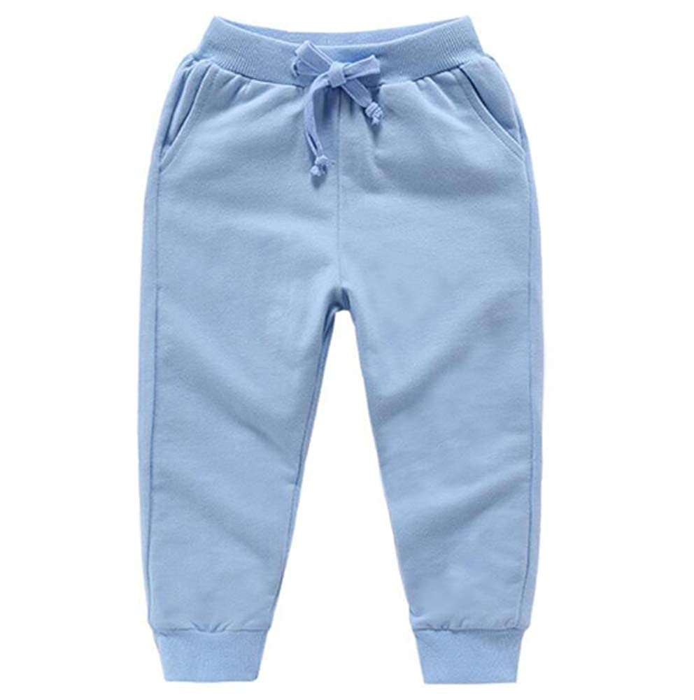Bfsports Unisex Kids Solid Cotton Drawstring Waist Pants Toddler Baby Active Sweatpants