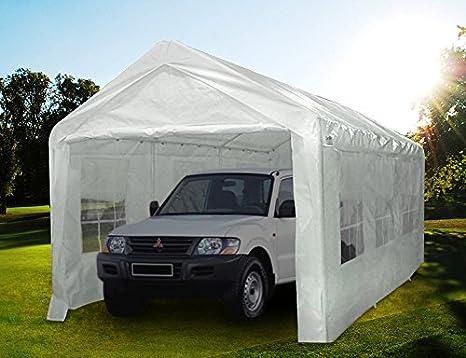 3 x 6 Meter Quictent blanco de garaje marquesina carpa de jardín portátil: Amazon.es: Jardín