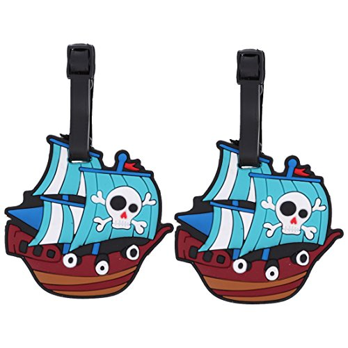 Pirate Themed Luggage Tag Travel ID for Suitcases - Set of 2