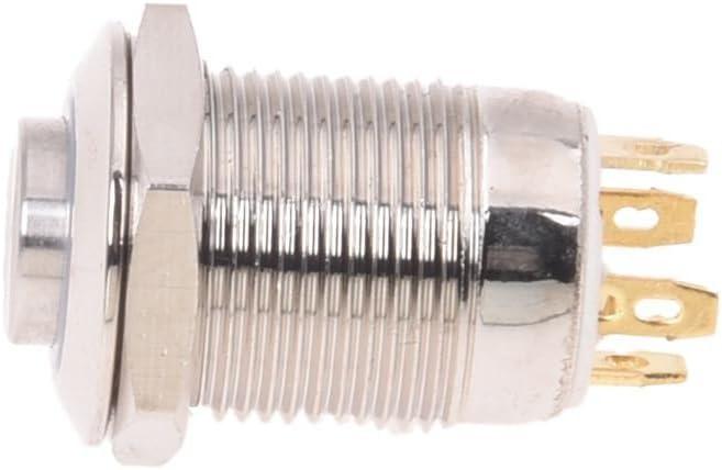 Toogoo R 3v Drucktaster Taster Klingeltaster Klingelknopf Blau Led 12mm Silberfarbe Auto