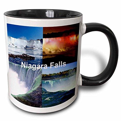 3dRose 21724_4 Niagara Falls Collage Mug, 11 oz, -