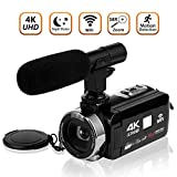 Cheap Video Camera Camcorder 4K Ultra HD Digital Camera WiFi Video Camcorder 3.0 inch Touch Screen Night Vision Vlogging Camera with External Microphone