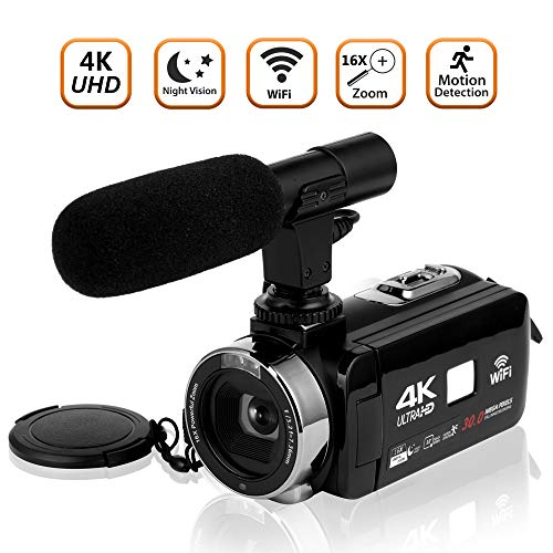 Video Camera Camcorder 4K Ultra HD Digital...
