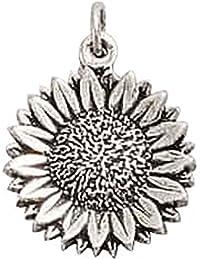 Sterling Silver Sunflower Flower Charm