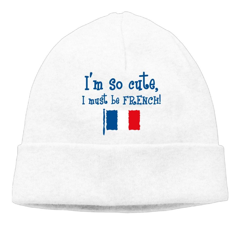 Aiw Wfdnn Beanie Hat Im So Cute I Must Be French Winter Knit Cap for Mens