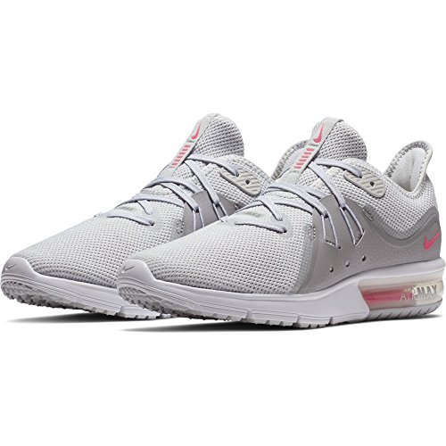 Zapatillas De Running Nike Mujeres Air Max Sequent 3 Pure Platinum / Racer Pink-wolf Grey