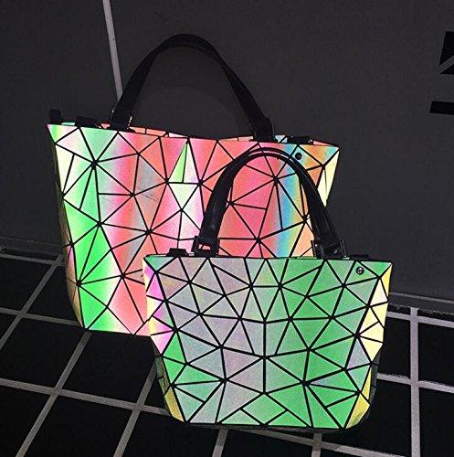 Imbottite Arcobaleno Laser Pieghevole Tracolla Geometria Liscia Catena Donne P6TtqxFP