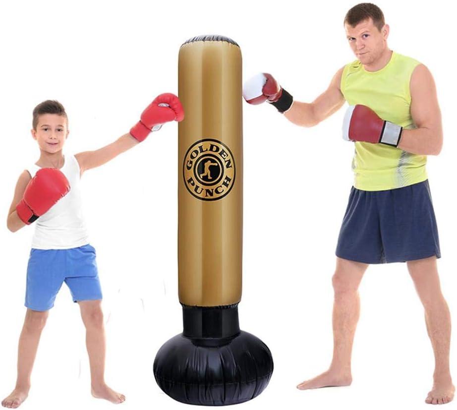 verdickter Fitness-/Übungs-aufblasbarer Boxsack aufblasbare Boxs/äule Ganmaov Freistehender Boxsack freistehend f/ür Erwachsene Kinder