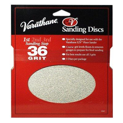 36 Grit Varathane EZV Sanding Discs 3 - Sanding Ezv Discs