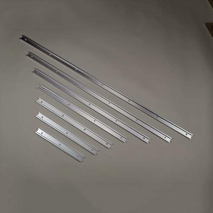 blanc poign/ée de verrouillage lourde pour perceuse scie /à ruban routeur guide de serrage /à bord droit T-Tracks Pince /à onglets pour gabarit en aluminium rail en T