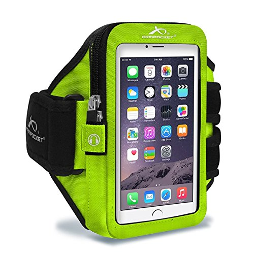 Armpocket Ultra i-35 armband for iPhone 7/6s/6, Galaxy S8/S7S/6, S7/6 edge or Google Pixel with slim cases or other phones up to 6.0