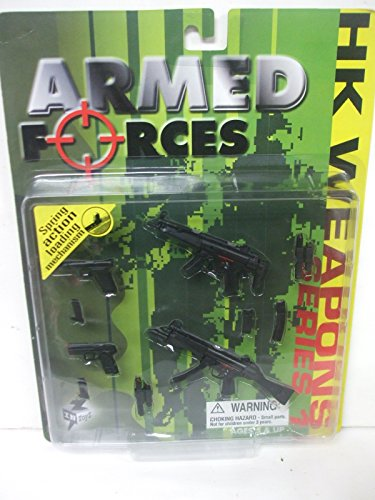 Gun Submachine Folding - In Toyz Armed Forces - HK Weapons Set Series 1 - For use with 12
