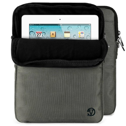 """VanGoddy Hydei Sleeve Modern Padded Bag Pack Cover w/ Shoulder Strap fits Amazon Kindle Fire HDX / HD 8.9"""" Smart Prime Tablet STEEL GREY"""