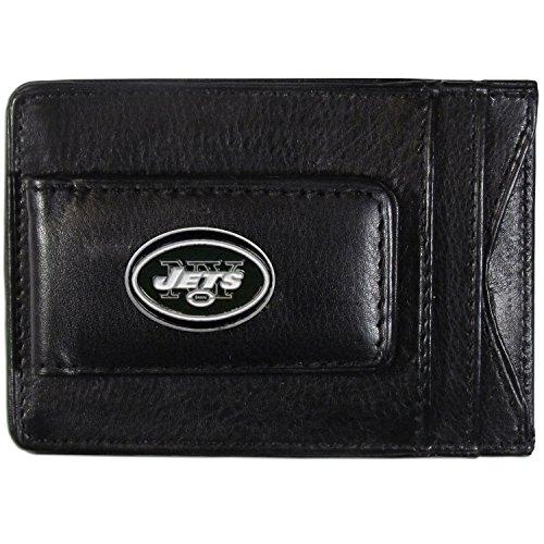 NFL New York Jets Leather Money Clip Cardholder