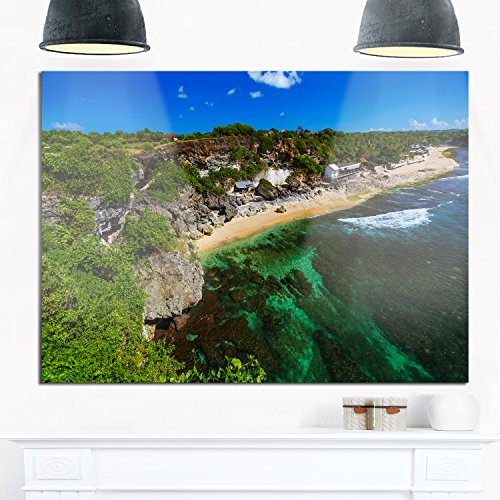 Designart MT9907-40-30 Balangan Beach Bali Indonesia Wall Hanging Kit, 40 x 30, Green by Design Art