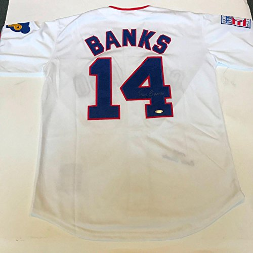 Ernie Banks Autographed Jersey - 1968 Mitchell & Ness - Tristar Productions Certified - Autographed MLB (Ernie Banks Autographed Jersey)
