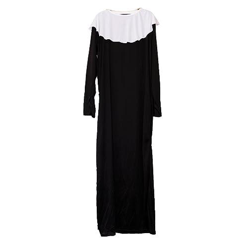 Sharplace Costume Di Prete Con Collana Croce Abito Religioso Chiesa Halloween Cosplay