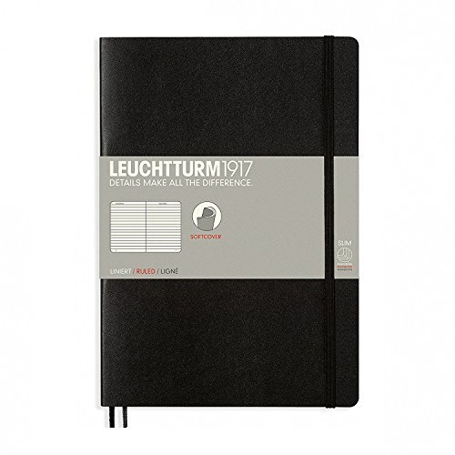 Leuchtturm Softcover Composition B5 Ruled Notebook [Black]