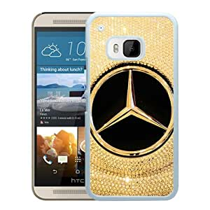Popular Custom Designed Case For HTC ONE M9 With Mercedes logo White Phone Case