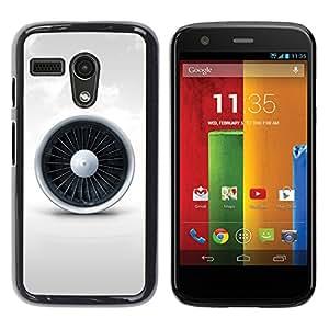YiPhone /// Prima de resorte delgada de la cubierta del caso de Shell Armor - Jet Engine - Motorola Moto G 1 1ST Gen I X1032