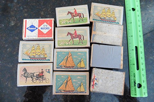 Vntg Ohio Blue Tip Match Boxes US Constitution 1955 jockey horse buggy ()