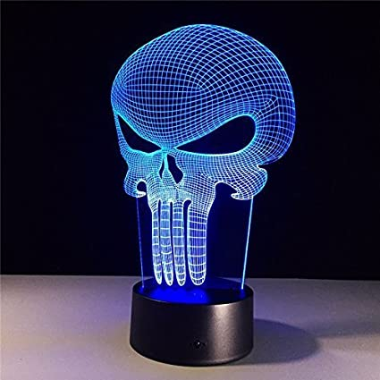 Illusion Skull Colored For Kids3d Multi Light Hologram Led Desk Changing Punisher Cfstore3d Lamp Acrylic Bulbing Wsjlt Color OXiPZwuTlk
