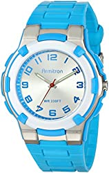 Armitron Sport Unisex 25/6420BLU Easy-to-Read Dial Textured Blue Resin Strap Watch