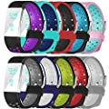 For Fitbit Charge 2 Bands, Maledan Replacement Accessory Sport Bands With Air Holes for Fitbit Charge 2 HR, Large Small 12 Different Colors