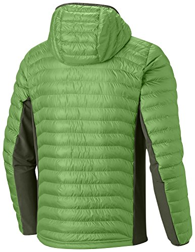 Columbia spring Con Light Hombre Híbrida Verde Chaqueta Powder Capucha Hooded mosstone Lite rxqwvrYg