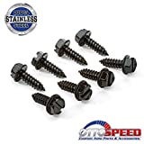 Eight (8) Rustproof Black License Plate Screws