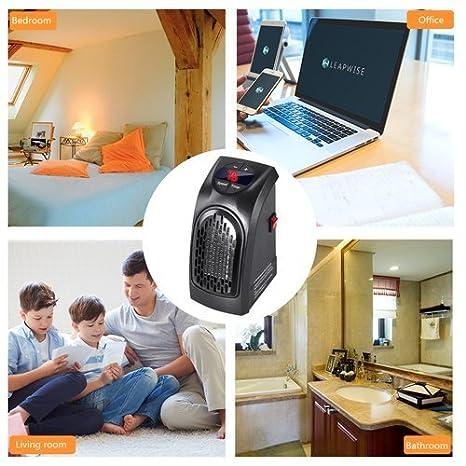 Handy Heater - 350W Mini Portátil Estufa Eléctrico Calefactor Cerámicos Calefacción de Pared Termoventilador con Digital Termostato Ajustable para ...