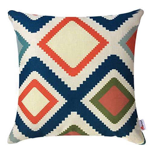 Monkeysell Multi colour Geometric Decorative Pillowcase