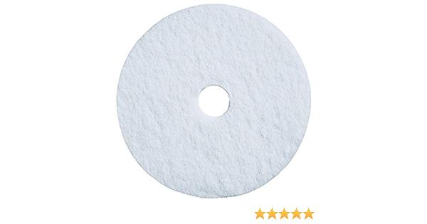 Case of 5 White 3-1//4 Arbor Bear-Tex 66261054209 General Purpose Super Gloss Polishing Floor Maintenance Pad 17 Diameter x 1 Thick
