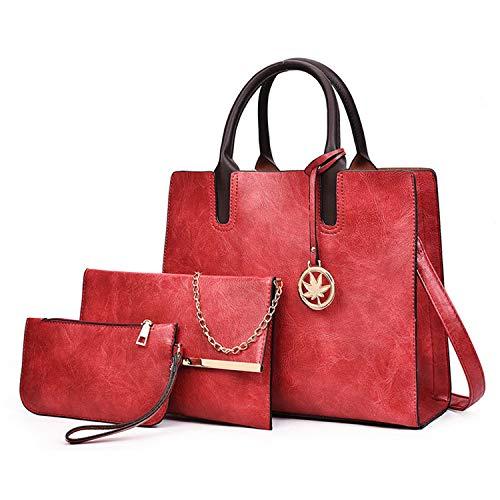 rosso retrò Red semplice Borsa obliqua Una donna Borsa Combinazione da da grande monete da borsa donna 4qB46rwO