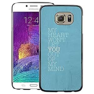 A-type Arte & diseño plástico duro Fundas Cover Cubre Hard Case Cover para Samsung Galaxy S6 (Blue Heart Mind Love You Baby Poster)