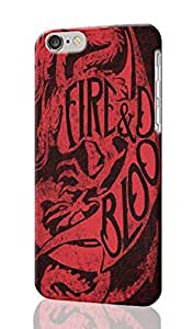 "Fire & Blood Pattern Image - Protective 3d Rough Case Cover - Hard Plastic 3D Case - For iPhone 6 Plus- 5.5"" inches"
