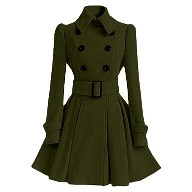 Wollmantel Trench Parka BESSKY Winter Outwear Jacke Frauen Warme Gürtel Woolen Jacke Coat Gürtelschnalle Mantel Yf67yImgvb