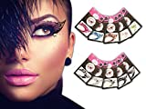 Temporary Eye Tattoo 10 PAIRS Transfer Eyeshadow Eyeliner Stickers Pinky Petals