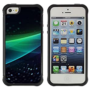 SHIMIN CAO@ Abstract Green Wave Rugged Hybrid Armor Slim Protection Case Cover Shell For iphone 5S CASE Cover ,iphone 5 5S case,iphone5S plus cover ,Cases for iphone 5 5S