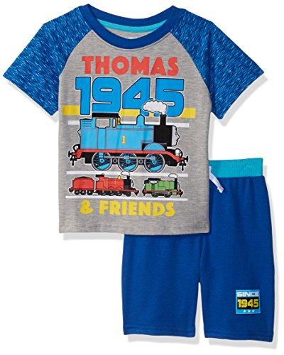 (Nickelodeon Girls' Toddler Thomas Sleeve tee Shirt and Short Set, Light Blue, 4T)