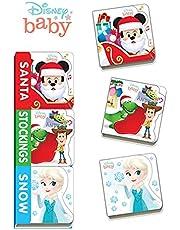 Disney Baby Santa, Stockings, Snow
