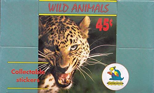 WILD ANIMALS AROUND THE WORLD IN 240 1994 TOUGAROO ALBUM STICKER BOX OF 50 PACKS