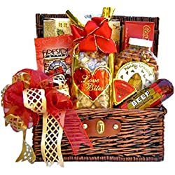 Sweet & Savory Valentines Day Snacks for Him | Romantic Gift Basket for Men