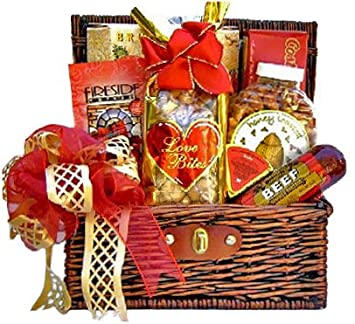 Amazon sweet savory valentines day snacks for him sweet savory valentines day snacks for him romantic gift basket for men sciox Image collections