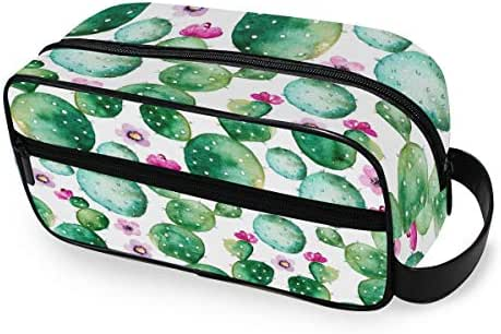 Cactus Patterns Easy Organization Travel Toiletry Bag for Men or Women Excellent Portable Shaving Bag & Toiletries Storage 10 Inches Girls