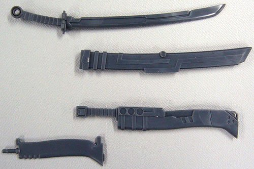 MSG Modeling Support Goods Weapon Unit MW06R Samurai Sword Machete -