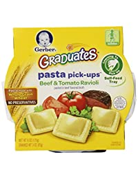 Gerber Graduates Pasta Pick-Ups Ravioli, Beef and Tomato, 6 Ounce, 8 Count BOBEBE Online Baby Store From New York to Miami and Los Angeles
