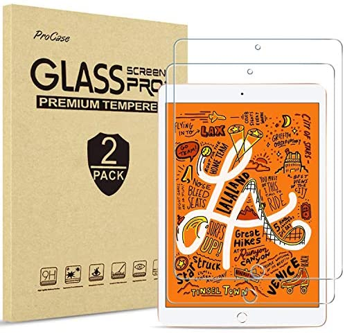 "ProCase iPad Mini 4th and fifth Screen Protector, Tempered Glass Screen Film Guard Screen Protector for 7.9"" Apple iPad Mini 5 2019 / iPad Mini 4 2015-2 Pack"